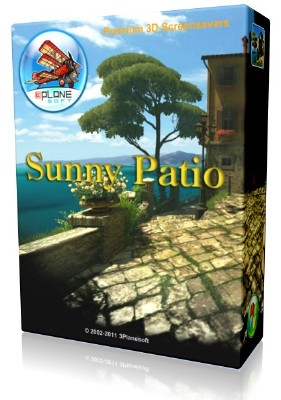 Sunny Patio 3D Screensaver and Animated Wallpaper 1.1 Build 2