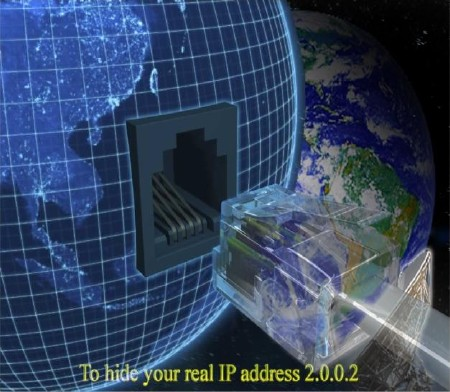To hide your real IP address 2.0.0.2