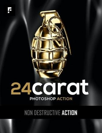 24 Carat Photoshop Action