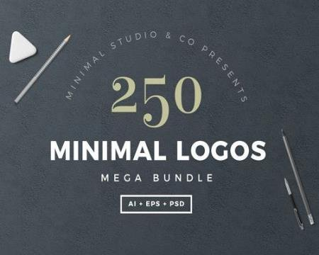 250 Minimal Logo Bundle
