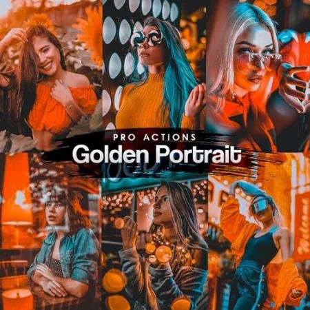 Golden Portrait Photoshop Actions